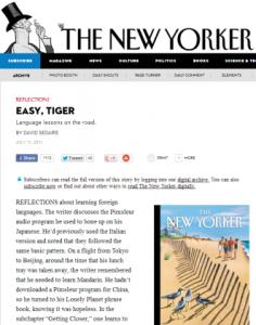 Sedaris in The New Yorker