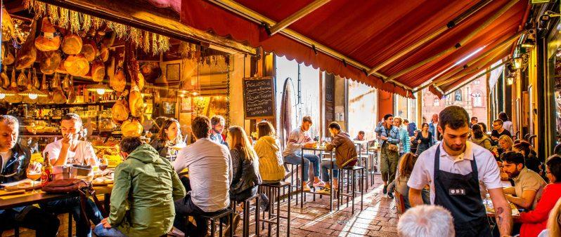 self-guided Bologna food tour