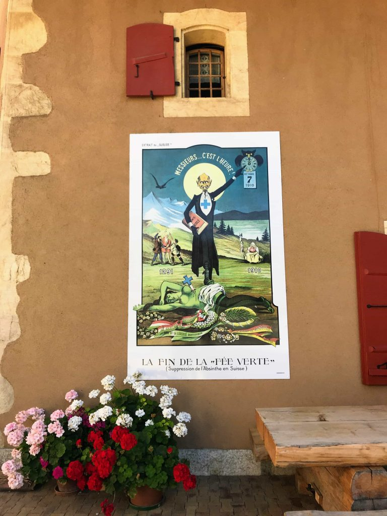 ban on absinthe poster Motiers