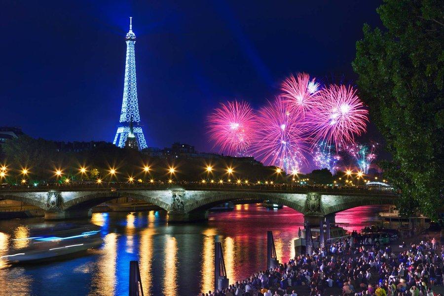 Bastille Day Eiffel Tower Paris France