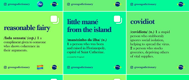 Brazilian Instagram Slang Greengo Dictionary