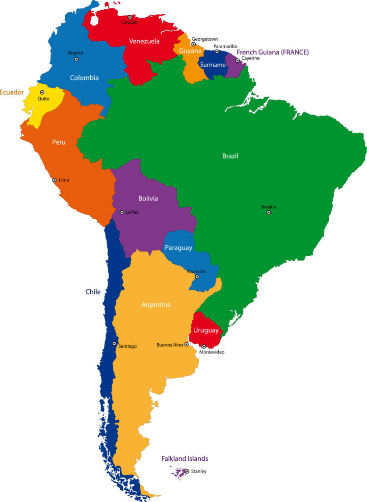 Literal Meanings of the Names of South American Countries