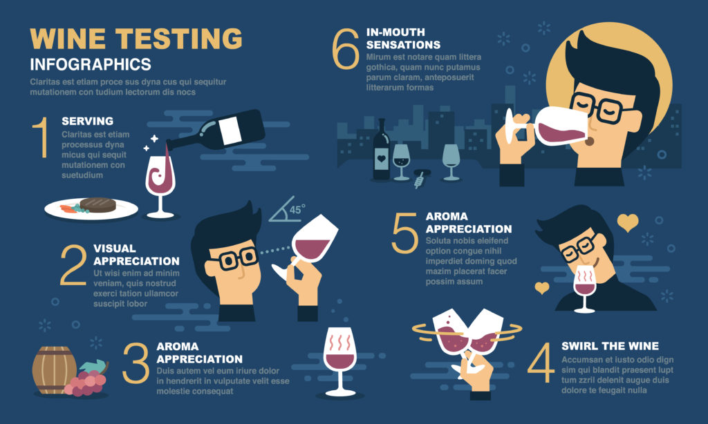South American wine tasting infographic
